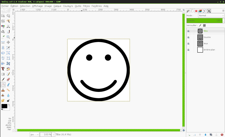 Prise d'écran du logiciel d'édition et de retouche d'images The Gimp