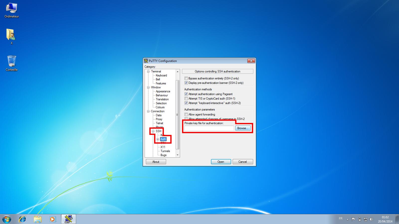 Connexion à un serveur dédié Kimsufi via le protocole SSH - Étape 5