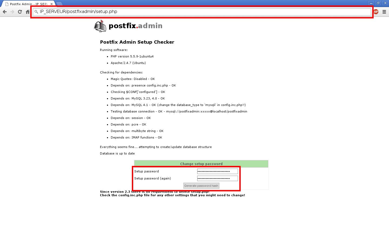Installation d'un serveur d'e-mails avec Postfix et Dovecot sur un serveur dédié Kimsufi sous Ubuntu Server 14.04 LTS – Configuration de Postfix Admin – Partie 1