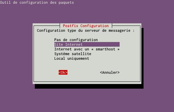 Installation d'un serveur d'e-mails avec Postfix et Dovecot sur un serveur dédié Kimsufi sous Ubuntu Server 14.04 LTS - Configuration du paquet postfix - Partie 2
