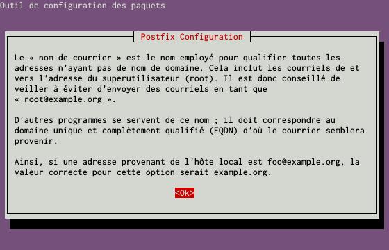 Installation d'un serveur d'e-mails avec Postfix et Dovecot sur un serveur dédié Kimsufi sous Ubuntu Server 14.04 LTS - Configuration du paquet postfix - Partie 3