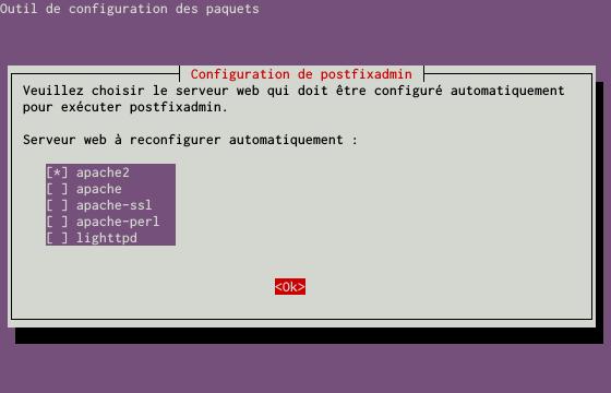 Installation d'un serveur d'e-mails avec Postfix et Dovecot sur un serveur dédié Kimsufi sous Ubuntu Server 14.04 LTS - Configuration du paquet postfixadmin - Partie 1