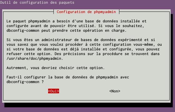Installation du SGBDR MySQL sur un serveur dédié Kimsufi sous Ubuntu Server 14.04 LTS - Installation du paquet PHPMyAdmin - Étape 2