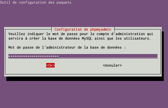Installation du SGBDR MySQL sur un serveur dédié Kimsufi sous Ubuntu Server 14.04 LTS – Installation du paquet PHPMyAdmin – Étape 3