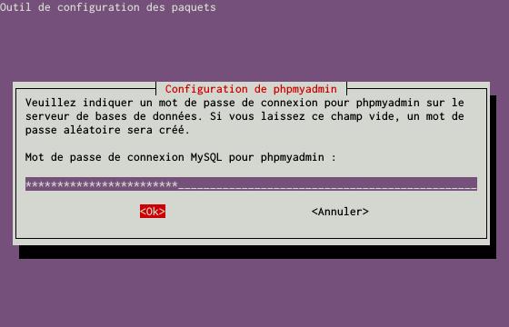 Installation du SGBDR MySQL sur un serveur dédié Kimsufi sous Ubuntu Server 14.04 LTS – Installation du paquet PHPMyAdmin – Étape 4