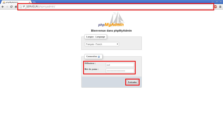 Installation du SGBDR MySQL sur un serveur dédié Kimsufi sous Ubuntu Server 14.04 LTS – Connexion à PHPMyAdmin