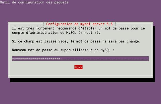 Installation du SGBDR MySQL sur un serveur dédié Kimsufi sous Ubuntu Server 14.04 LTS - Installation du paquet MySQL - Étape 1