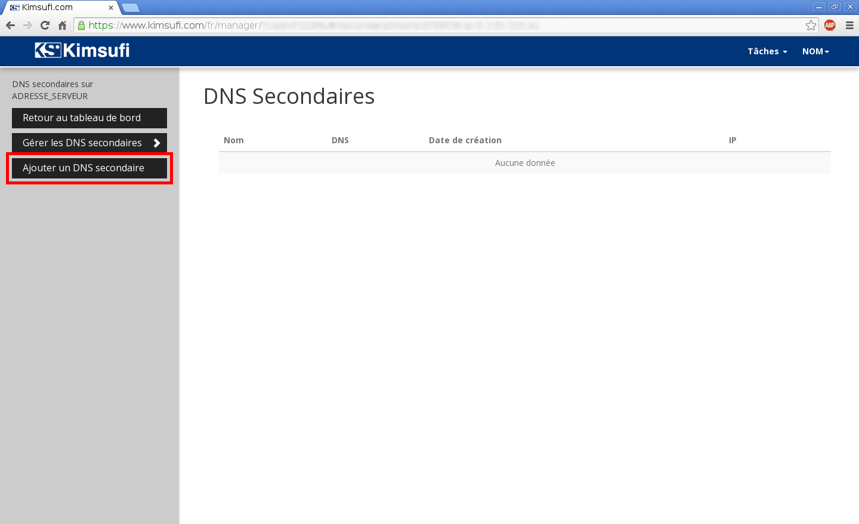 Configuration de noms de domaines chez Online.net et 1and1.fr pour pointer sur un serveur dédié Kimsufi – Configuration d'un nom de domaine chez 1and1.fr – Étape 9