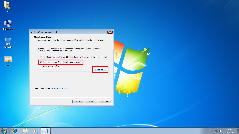 Configuration des comptes e-mails pour Microsoft Outlook - Étape 03