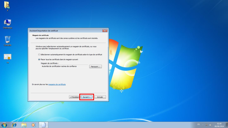 Configuration des comptes e-mails pour Microsoft Outlook - Étape 05