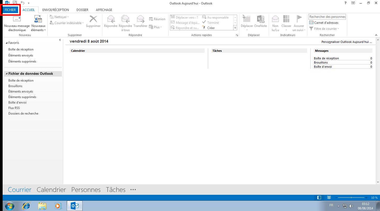 Configuration des comptes e-mails pour Microsoft Outlook - Étape 08