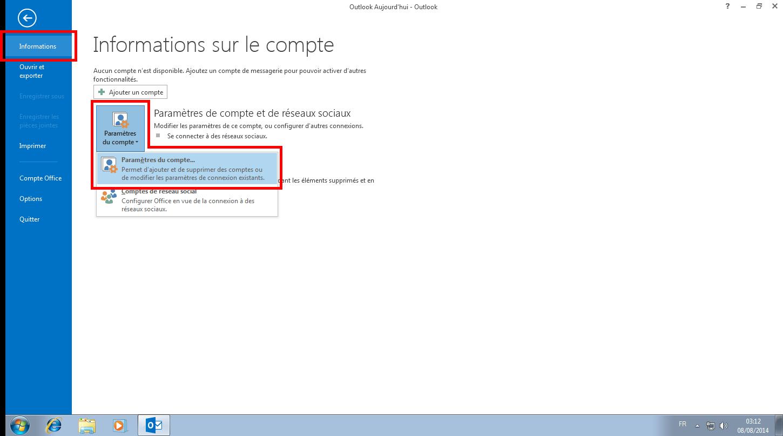 Configuration des comptes e-mails pour Microsoft Outlook - Étape 09