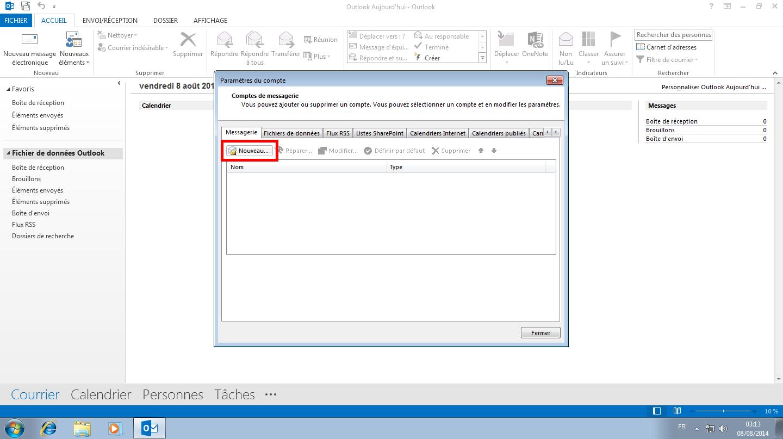 Configuration des comptes e-mails pour Microsoft Outlook - Étape 10