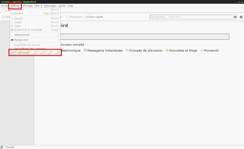 Configuration des comptes e-mails pour Mozilla Thunderbird - Étape 1