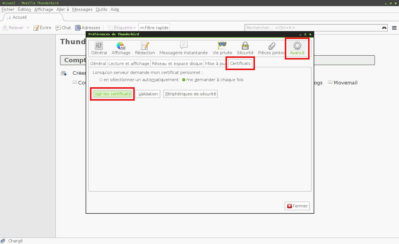 Configuration des comptes e-mails pour Mozilla Thunderbird - Étape 2