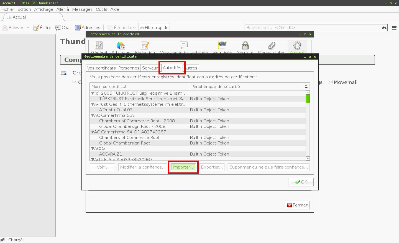 Configuration des comptes e-mails pour Mozilla Thunderbird - Étape 3