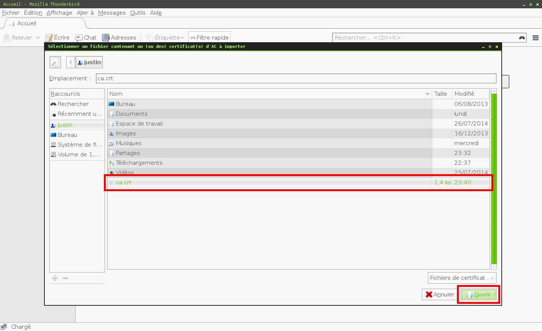 Configuration des comptes e-mails pour Mozilla Thunderbird - Étape 4