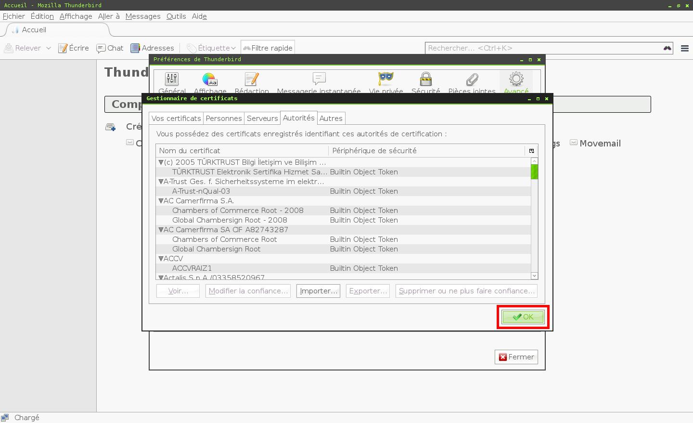 Configuration des comptes e-mails pour Mozilla Thunderbird - Étape 6