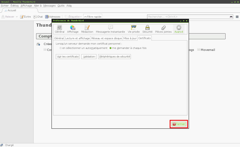 Configuration des comptes e-mails pour Mozilla Thunderbird - Étape 7
