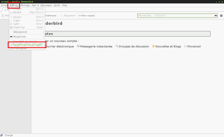 Configuration des comptes e-mails pour Mozilla Thunderbird - Étape 8
