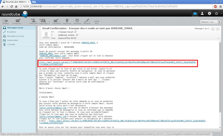 Configuration des comptes e-mails pour Gmail - Étape 9