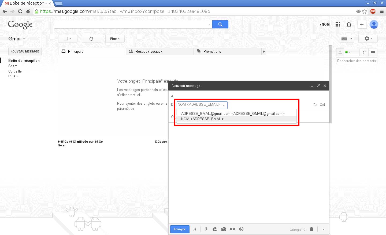 Configuration des comptes e-mails pour Gmail - Étape 10