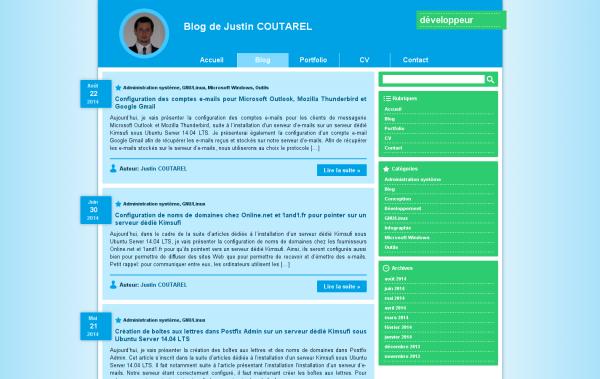 Capture d'écran de la nouvelle liste des articles du blog