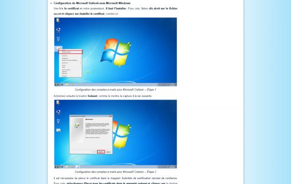 Capture d'écran de la nouvelle présentation des captures d'écrans dans les articles de blog